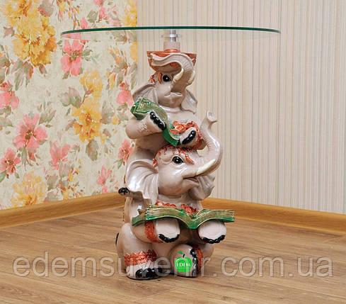 Стол журнальный Денежные слоны столешница 25 см, фото 2