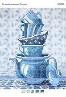 """Схема для частичной вышивки бисером """"Чайный сервиз"""""""