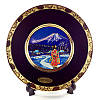 Японская сувенирная тарелка «Майко вечером»
