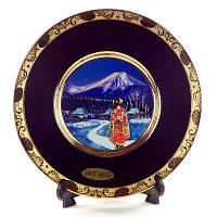 Японская сувенирная тарелка «Майко вечером», фото 1