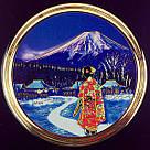 Японская сувенирная тарелка «Майко вечером», фото 2