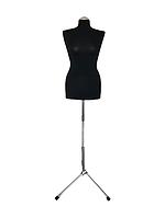Манекен портновский Ailant 44 черный чехол на металлической подставке