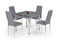 Стол раскладной стеклянный KENT серый
