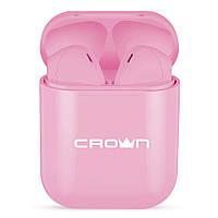 Бездротові навушники Crown CMTWS-5005 PINK (TWS Bluetooth V5.0)