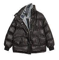 Женская крутейшая куртка оверсайз с джинсовым воротником в стиле Balenciaga, фото 1