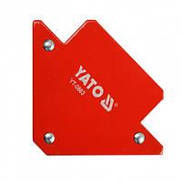 Магнитный Фиксатор(Струбцина)Для Сварки(82х120х13мм) 11.5кг YATO (YT-0863)