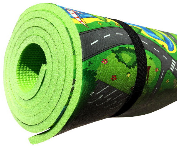 Детский игровой коврик «Городок» 3XL 2500х1100х8 мм