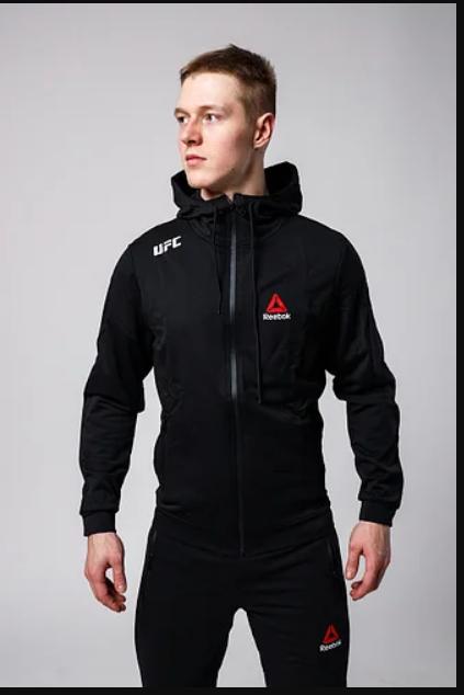 РАЗМЕР ХЛ Кофта мужская на молнии UFC REEBOOK, черная