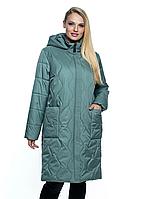 Модная женская куртка ДЕМИ НА СИЛИКОНЕ Размеры 54- 70. Длина 100 см. Длина рукава 65 см Женский плащ полу пр