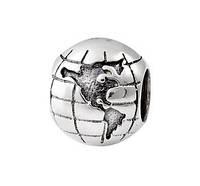 Шарм серебряный Глобус, фото 1