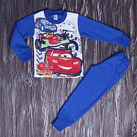 Теплая пижама для мальчика Тачки Маквин с начесом 98-122 см