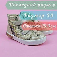 Ботинки демисезонные девочке золотистые тм Том.м размер 30, фото 1