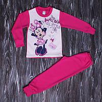 Теплая пижама для девочки Минни с начесом 98-128 см