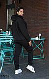 Осенний женский спортивный костюм штаны + кофта р. 50-52, 54-56, 58-60, 62-64, фото 3