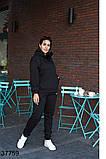 Осенний женский спортивный костюм штаны + кофта р. 50-52, 54-56, 58-60, 62-64, фото 2