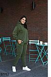 Осенний женский спортивный костюм штаны + кофта р. 50-52, 54-56, 58-60, 62-64, фото 5