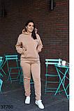 Осенний женский спортивный костюм штаны + кофта р. 50-52, 54-56, 58-60, 62-64, фото 7