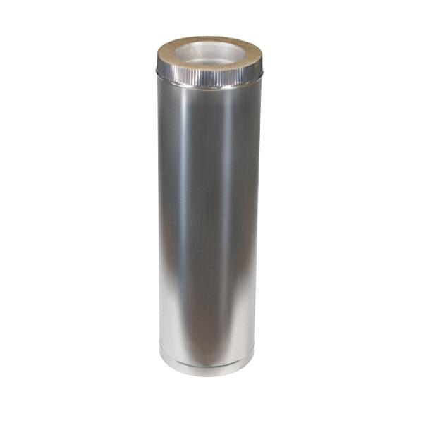 Дымоход из оцинковки Kraft 180/250 мм (нержавейка в оцинковке) и утепление минеральная вата