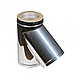 Дымоход из оцинковки Kraft 180/250 мм (нержавейка в оцинковке) и утепление минеральная вата, фото 7
