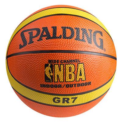 Мяч баскетбольный резиновый Spalding, №7, полоса