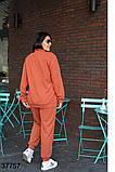 Женский спортивный костюм штаны + кофта на змейке р. 52-54, 56-58, 60-62, 64-66, фото 3