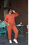 Женский спортивный костюм штаны + кофта на змейке р. 52-54, 56-58, 60-62, 64-66, фото 4
