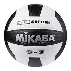Мяч волейбольный Mikasa 1000 SoftSet черно-белый