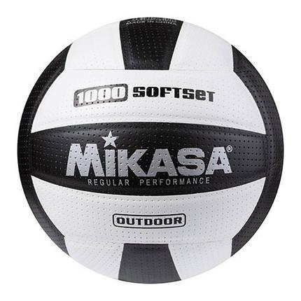 М'яч волейбольний Mikasa 1000 SoftSet чорно-білий, фото 2