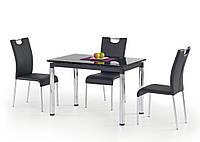Стол раскладной стеклянный L31 черный