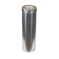 Дымоход из оцинковки Kraft 250/320 мм (нержавейка в оцинковке) и утепление минеральная вата