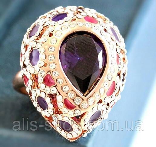 1111c548d125 Эксклюзивное кольцо с крупным фиолетовым камнем