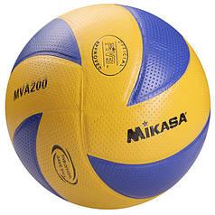 Мяч волейбольный Mikasa MVA200 PVC желт/синий