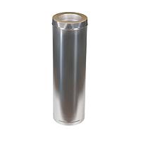 Дымоход из оцинковки Kraft 300/360 мм (нержавейка в оцинковке) и утепление минеральная вата