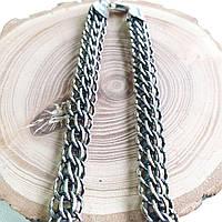 Цепочка серебряная ручного плетения Венеция