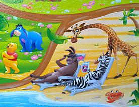 """Детский игровой коврик для ползания ребенка """"Мадагаскар"""" 2000x1200x10мм, фото 3"""