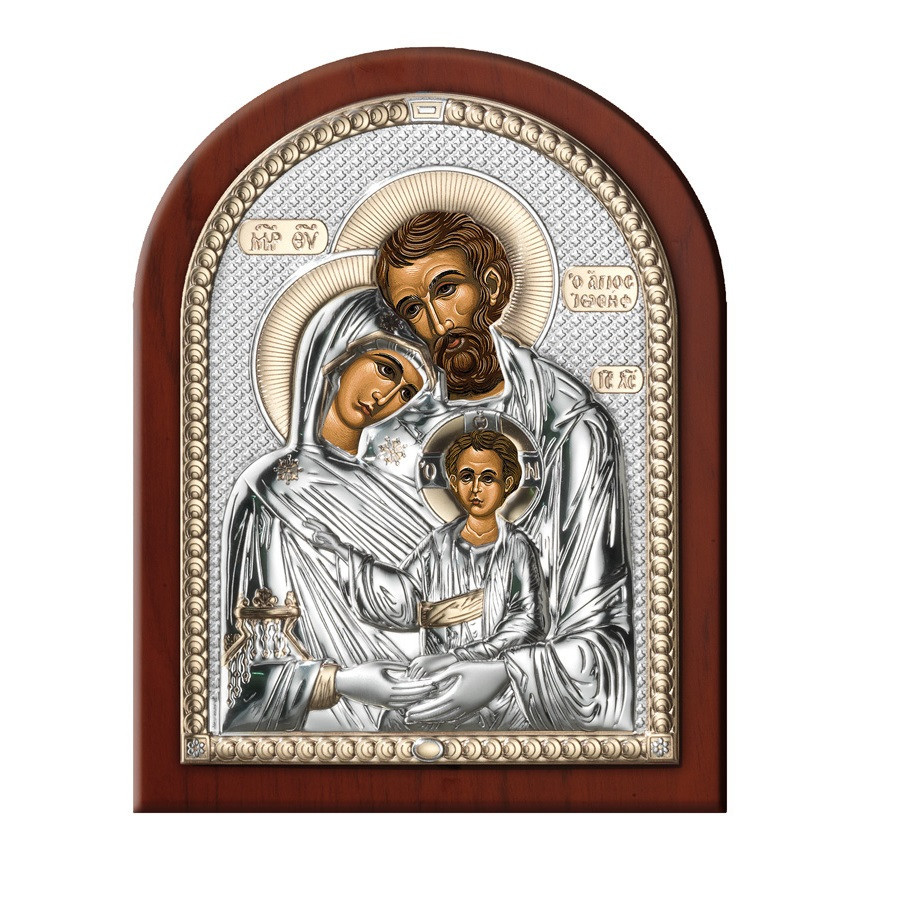 Икона серебряная Святое Семейство открытй лик