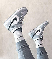 Мужские кроссовки Nike Air Jordan 1 Mid Light Smoke Grey