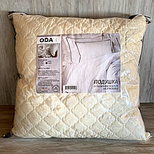Подушка 70*70 см. Подушка ODA company. На холлофайбере