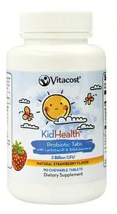 Vitacost KidHealth Probiotic Tabs for Kids клубника 3 млрд CFU 90 жевательных таб.