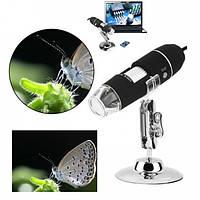 Цифровой микроскоп USB Digital microscope Zoom 25-200X PLUS с LED подсветкой, фото 1