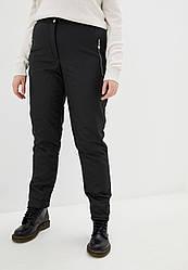 Жіночі спортивні штани з плащової тканини на флісі розміри 48-56