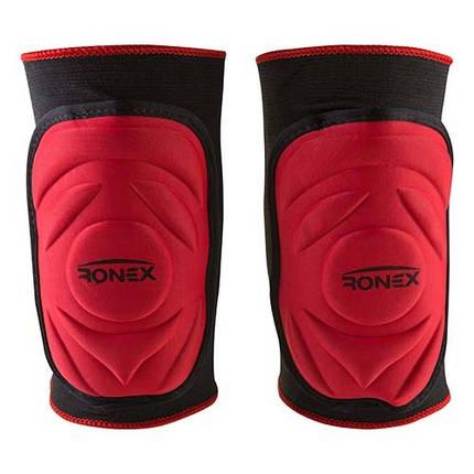 Наколенник эластичный Ronex красный, размер L, фото 2