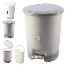 Ведро мусорное пластик 6л 22*28см R85420 (12шт)