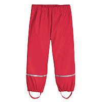 Детские штаны, без утеплителя, красные малиновые, Грязепруф, Lupilu 122-128