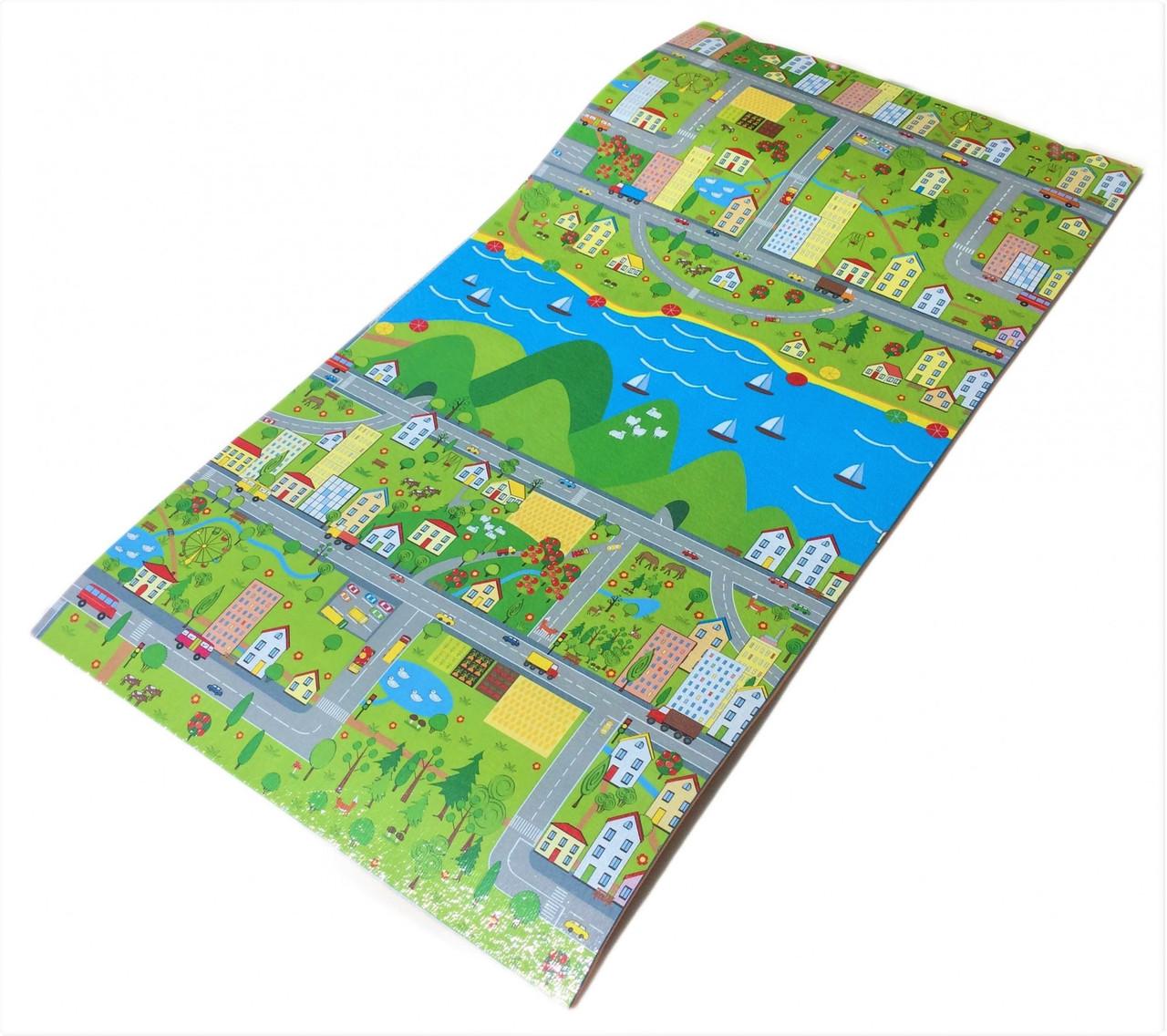 """Детский игровой коврик """"Парковый городок"""" 1200x600x8мм (Теплоизоляционный)"""