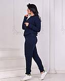 Жіночий в'язаний спортивний костюм, кофта та штани з високою посадкою розмір: 42-46, фото 3