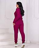 Жіночий в'язаний спортивний костюм, кофта та штани з високою посадкою розмір: 42-46, фото 5