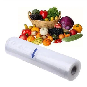 Вакуумные гофрированные пакеты в рулонах Пленка для вакуумного упаковщика 24 см 10шт.