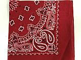Бавовняна літня червона і малинова бандана косинка, фото 3
