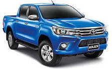 Защита заднего бампера Toyota Hilux (2015-...)